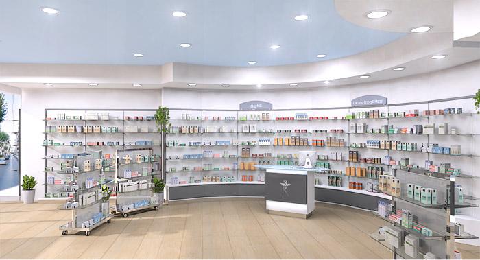 Farmacia sermoneta afk arredamenti per farmacie e for Arredo farmacia usato